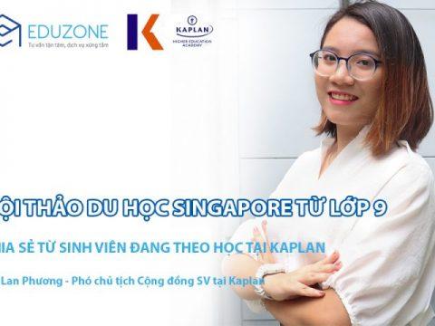 Giao lưu với Phó Chủ tịch Cộng đồng sinh viên tại Kaplan Singapore